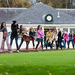 Miss World 2011 contestants play Golf at Gleneagles