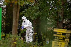 © Licensed to London News Pictures. 24/10/2020. Watlington Hill, UK. A murder investigation has been launched by Thames Valley Police after the body of a woman in her sixties was located in woodland in the Watlington Hill National Trust Estate at approximately 5:53pm on Friday 23/10/2020. Photo credit: Peter Manning/LNP