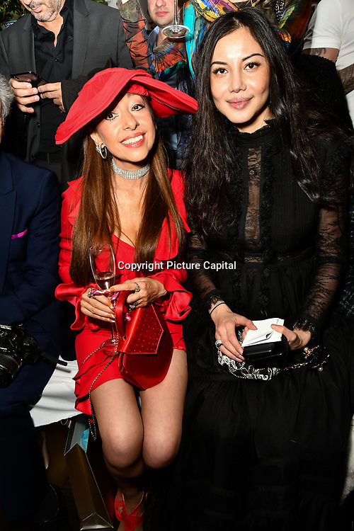 Tracy Rose and Elaine Zhang attend Nina Naustdal catwalk show SS19/20 collection by The London School of Beauty & Make-up at Bagatelle on 26 Feb 2019, London, UK.