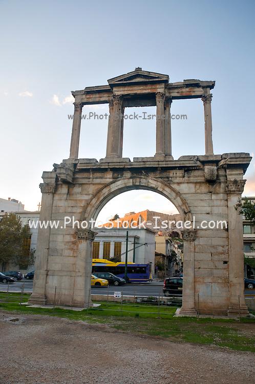 Greece, Athens, Hadrian's Triumphal Arch