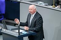 08 DEC 2020, BERLIN/GERMANY:<br /> Eckhardt Rehberg, Mdb, CDU, Haushaltsdebatte, Plenum, Reichstagsgebaeude, Deuscher Bundestag<br /> IMAGE: 20201208-02-019<br /> KEYWORDS: Rede