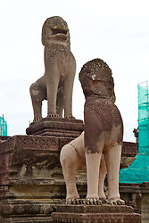 Angkor Wat Lion Statues