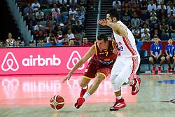Aleksandar Kostoski of Macedonia during basketball match between Croatia vs Macedonia at Day 4 in Group C of FIBA Europe Eurobasket 2015, on September 8, 2015, in Arena Zagreb, Croatia. Photo by Matic Klansek Velej / Sportida