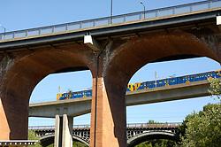 Newcastle Metro: bridge in Byker UK
