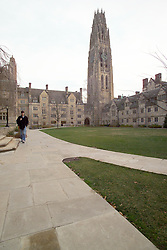 Yale University Campus, The Branford College Quad in Early Winter