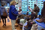 people looking fore new shoes during the winter bargain NYC