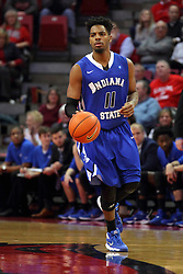 17 February 2016: Devonte Brown during the Illinois State Redbirds v Indiana State Sycamores at Redbird Arena in Normal Illinois (Photo by Alan Look)