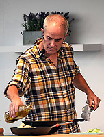 phil vickery during a live demonstration in The Celebrity Chef Cookery Theatre at The Festival of Food and Drink Clumber Park Worksop Nottingham 2021<br />   photo by Chris Waynne
