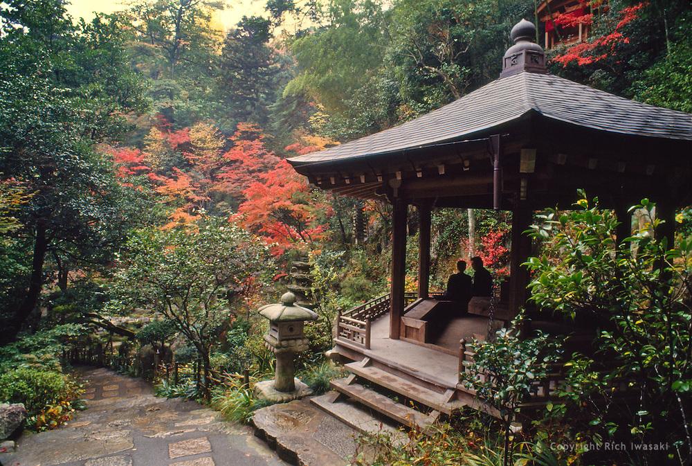 Observation shelter sits near Mitaki-dera (temple), Hiroshima, Hiroshima Prefecture, Japan