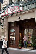 Exterior shot of Cafe Tortoni, Buenos Aires, Federal District, Argentina.