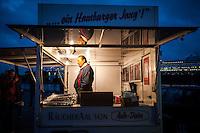Early morning fish market in Hamburg