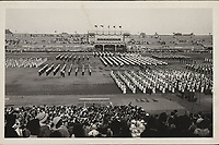 """[Sokolski stadion u Maksimiru].  <br /> <br /> ImpresumZagreb : Foto-Material od t. t. Griesbach i Knaus, [između 1932 i 1941].<br /> Materijalni opis1 razglednica : tisak ; 9,2 x 14 cm.<br /> NakladnikFotoveletrgovina Griesbach i Knaus (Zagreb)<br /> Vrstavizualna građa • razglednice<br /> ZbirkaGrafička zbirka NSK • Zbirka razglednica<br /> Formatimage/jpeg<br /> PredmetZagreb –– Maksimir<br /> SignaturaRZG-MAKS-34<br /> Obuhvat(vremenski)20. stoljeće<br /> NapomenaRazglednica nije putovala. • Sokolski stadion u Maksimiru izgrađen je 1934. godine povodom 60. obljetnice osnutka Hrvatskog sokola. • Na poleđini razglednice ispod razdjelne linije te na prostoru predviđeno za poštansku marku, otisnuto je Schleussner, od Carl Adolf Schleussner (""""ADOX Fotowerke Dr. C. Schleussner GmbH"""", od 1938.).<br /> PravaJavno dobro<br /> Identifikatori000955879<br /> NBN.HRNBN: urn:nbn:hr:238:282017 <br /> <br /> Izvor: Digitalne zbirke Nacionalne i sveučilišne knjižnice u Zagrebu"""