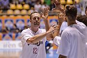 DESCRIZIONE : Supercoppa 2015 Semifinale Dinamo Banco di Sardegna Sassari - Grissin Bon Reggio Emilia<br /> GIOCATORE : Vladimir Veremeenko<br /> CATEGORIA : Fair Play Before Pregame<br /> SQUADRA : Grissin Bon Reggio Emilia<br /> EVENTO : Supercoppa 2015<br /> GARA : Dinamo Banco di Sardegna Sassari - Grissin Bon Reggio Emilia<br /> DATA : 26/09/2015<br /> SPORT : Pallacanestro <br /> AUTORE : Agenzia Ciamillo-Castoria/L.Canu