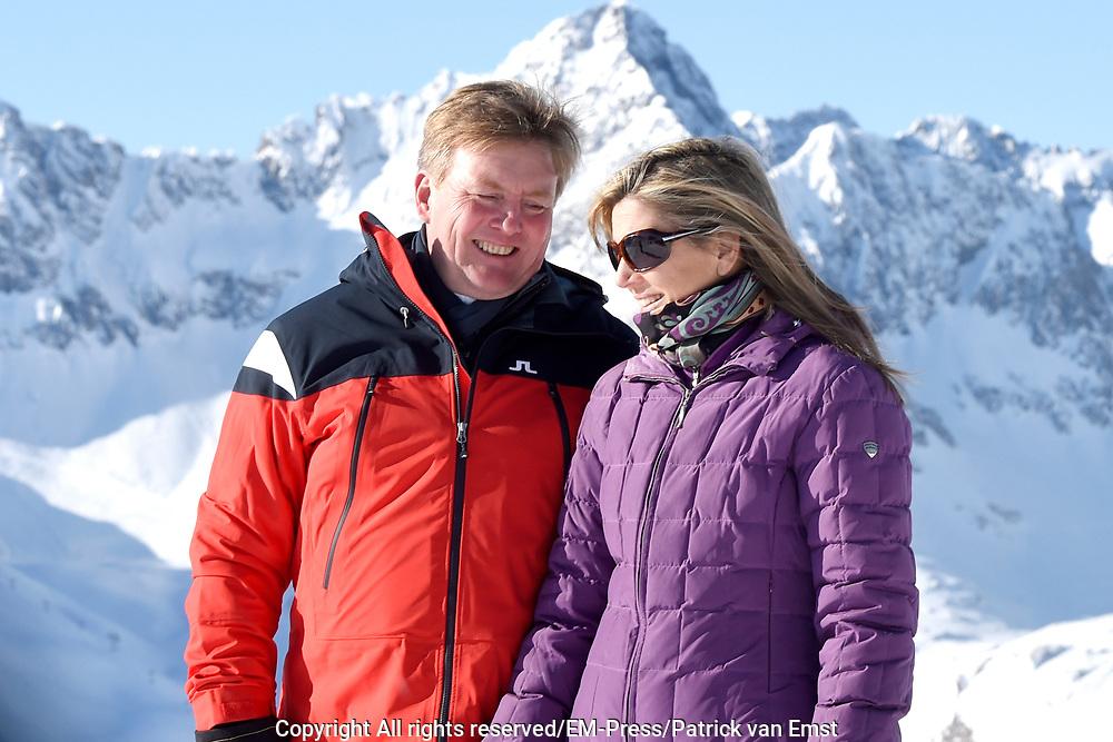 Fotosessie met de koninklijke familie in Lech /// Photoshoot with the Dutch royal family in Lech .<br /> <br /> Op de foto/ On the photo:  Koningin Maxima, Koning Willem Alexander ///// Queen Maxima, King Willem Alexander