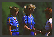 Lucerne, SWITZERLAND. [ROM W2- Rodica ARBA .Olga HOMEGHI 1988  Lucerne International Regatta, Lake Rotsee. June 1988 [Mandatory Credit - Peter Spurrier/Intersport Images] 1988 Lucerne International Regatta