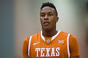 FORT WORTH, TX - JANUARY 19: Myles Turner #52 of the Texas Longhorns looks on against the TCU Horned Frogs on January 19, 2015 at Wilkerson-Greines AC in Fort Worth, Texas.  (Photo by Cooper Neill/Getty Images) *** Local Caption *** Myles Turner