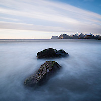 Storsandnes Beach, Flakstadoy, Lofoten Islands, Norway