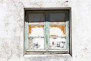Typical weather-worn paint on window on holiday island of Ile de Re, France<br /> FINE ART PHOTOGRAPHY by Tim Graham