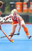 ARNHEM - Sophie Polkamp, donderdag tijdens de oefenwedstrijd tussen de vrouwen van Nederland en Zuid Afrika. COPYRIGHT KOEN SUYK