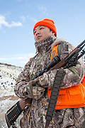 Chinese student Li Haoxin (Luke) hunts for deer and elk near Alder, Montana.