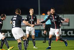 Falkirk's Lee Miller celebrates after scoring their first goal. Falkirk 3 v 1 St Mirren, Scottish Championship game played 3/12/2016 at The Falkirk Stadium.