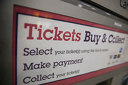 © Licensed to London News Pictures. 02/01/2018. London, UK. A ticket machine at London Bridge station. Rail fares have increased by an average of 3.4%, the biggest rise in five years. Photo credit: Rob Pinney/LNP