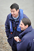 Putney- Mortlake, LONDON, GREAT BRITAIN,  Upire John GARRETT chats with another official of the race Richard PHELPS after the 2012 Boat Race, Oxford University vs Cambridge University. Raced over the championship course. Putney/Mortlake, Saturday  07/04/2012  [Mandatory Credit, Peter Spurrier/Intersport-images]