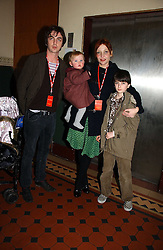 PEARL LOWE and musician DANNY GOFFEY with children BEATRIX and  at the opening night of Cirque Du Soleil's 'Alegria' held at the Royal Albert, London on 5th January 2007.<br />