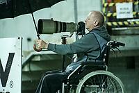 Bialystok, 19.08.2017. N/z Wlodzimierz Sierakowski fotoreporter sportowy przy pracy fot Michal Kosc / AGENCJA WSCHOD