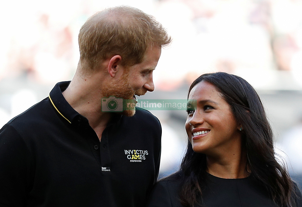 The Duke and Duchess of Sussex attend the Boston Red Sox vs New York Yankees baseball game at the London Stadium in support of the Invictus Games Foundation.