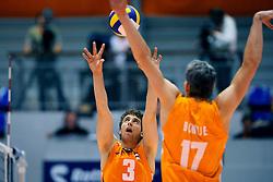 18-05-2008 VOLLEYBAL: EK KWALIFICATIE NEDERLAND - SLOVENIE: ROTTERDAM<br /> Nederland wint ook de laatste wedstrijd met 3-0 - Yannick van Harskamp<br /> ©2008-WWW.FOTOHOOGENDOORN.NL