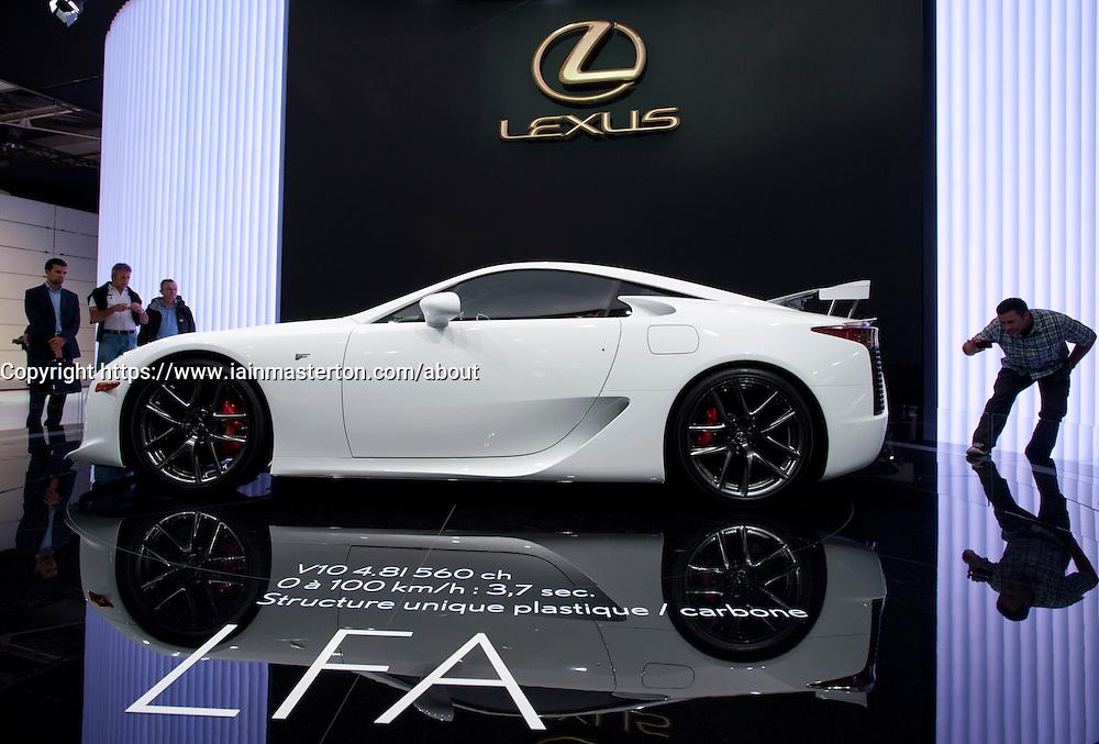 Lexus LFA car at Paris Motor Show 2010
