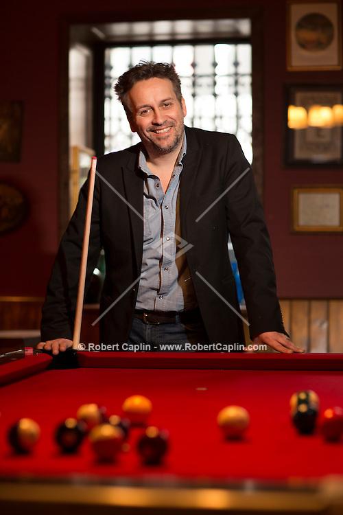 Restauranteur Yves Jadot photographed at Shakespeare Pub in New York City. <br /> <br /> Photo © Robert Caplin