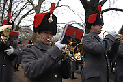 The Royal Artillary band played to the large assembled crowd who had gathered to watch the salute