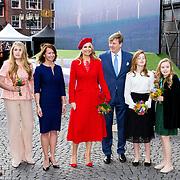 NLD/Groningen/20180427 - Koningsdag Groningen 2018, Prinses Amalia, Koningin Maxima, Koning Willem Alexander, Prinses Alexia, Prinses Ariane