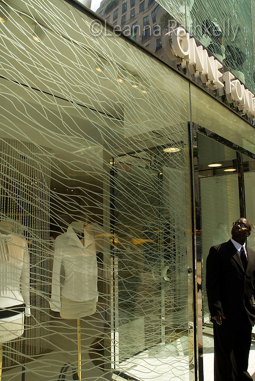 Anne Fontaine, purveyor of fine white shirts, has a flagship store on 5th Avenue, Manhattan, New York, USA