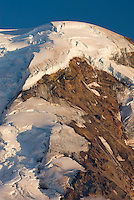 Summit dome of  Mount Baker (elevation 10,778feet (3,285m). Seen from Chowder Ridge, Mount Baker Wilderness Washington USA