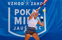 Pia Cuk of team East in action during Day 1 of tennis tournament Mima Jausovec cup where compete best Slovenian tennis players of the East and West, on June 6, 2020 in RCU Lukovica, Slovenia. Photo by Vid Ponikvar / Sportida