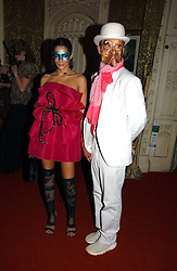 DAN MACMILLAN and  ASTRID MUNOZ at the 2006 Moet & Chandon Fashion Tribute in honour of photographer Nick Knight, held at Strawberry Hill House, Twickenham, Middlesex on 24th October 2006.<br /><br />NON EXCLUSIVE - WORLD RIGHTS