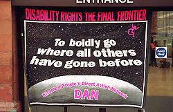 Banner for Disabled Action Network demonstration,
