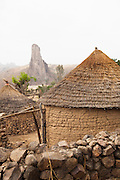 The village of Rhumsiki overlooks Rhumsiki rock, a volcanic plug, in northern Cameroon