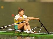 Bled, Slovenia, YUGOSLAVIA.  AUS LW1X. Adair FERGUSON. 1989 World Rowing Championships, Lake Bled. [Mandatory Credit. Peter Spurrier/Intersport Images]