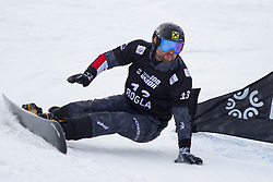 Andreas Prommegger (AUT) during Final Run at Parallel Giant Slalom at FIS Snowboard World Cup Rogla 2019, on January 19, 2019 at Course Jasa, Rogla, Slovenia. Photo byJurij Vodusek / Sportida