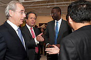 Harvey McGrath; Barry Stowe; Tidjane Thiam , Indonesian Eye Contemporary Art Exhibition Reception, Saatchi Gallery. London. 9 September 2011. <br /> <br />  , -DO NOT ARCHIVE-© Copyright Photograph by Dafydd Jones. 248 Clapham Rd. London SW9 0PZ. Tel 0207 820 0771. www.dafjones.com.