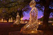 Sculptures in the Buffalo Bayou park in Houston, Texas