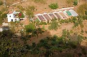 Farmhouse smallholding vegetable patches Corumbela, Malaga province, Spain