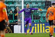 Goalkeeper Ofir Marciano (#1) of Hibernian FC during the William Hill Scottish Cup fourth round match between Hibernian FC and Dundee United FC at Easter Road Stadium, Edinburgh, Scotland on 28 January 2020.