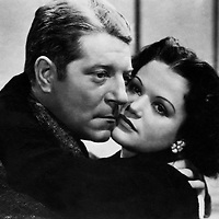 """movie, """"Judas Was a Woman"""" (La bete humaine), based on novel by Emile Zola, director: Jean Renoir, scene with: Jean Gabin, lovers, couple, embracing, cheek to cheek, affection<br /> <br /> Copyright Lu Wortig/Interfoto/Writer Pictures<br /> contact +44 (0)20 822 41564 <br /> sales@writerpictures.com <br /> www.writerpictures.com UK RIGHTS ONLY / NO FOREIGN SALES / NO FOREIGN AGENT SALES"""