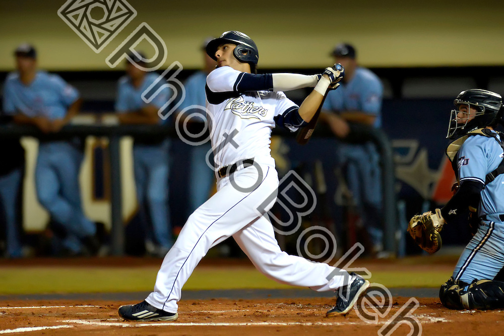 2016 February 23 - FIU's Eddie Silva (18). <br /> Florida International University defeated St. Thomas, 6-1, at FIU Baseball Stadium, Miami, Florida. (Photo by: Alex J. Hernandez / photobokeh.com) This image is copyright by PhotoBokeh.com and may not be reproduced or retransmitted without express written consent of PhotoBokeh.com. ©2016 PhotoBokeh.com - All Rights Reserved