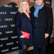 NLD/Amsterdam/20130314 - 1 jarig bestaan magazine Voque Nederland , Fiona Heering en partner Chiel ten Bosch